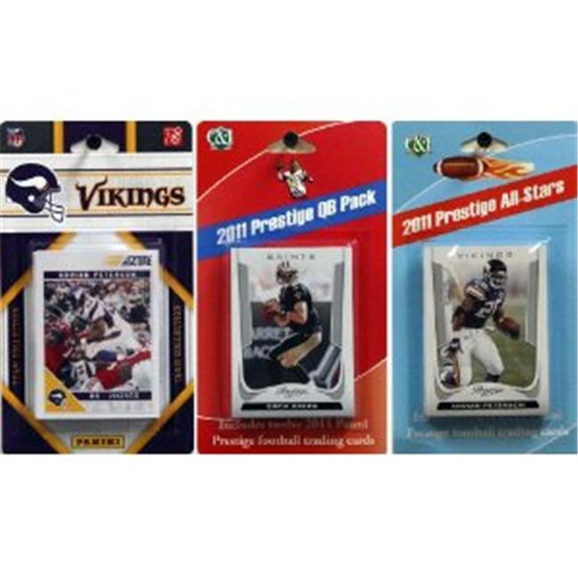 C & I Collectables 2011VIKINGSTSC NFL Minnesota Vikings Licensed 2011 Score Team Set With Twelve Card 2011 Prestige