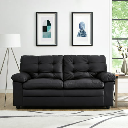 Mainstays Buchannan Upholstered Apartment Sofa, Multiple Colors Polyester Upholstered Sofa