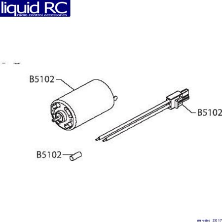 Losi B5102 Spin-Start Motor & Battery Lead: LST LST2 AFT MGB