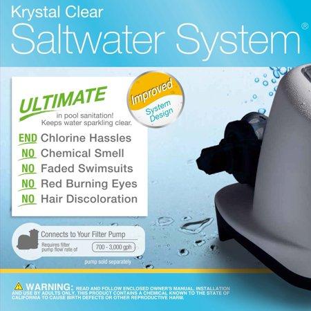 Intex 120V Krystal Clear Saltwater System Swimming Pool Chlorinator (2