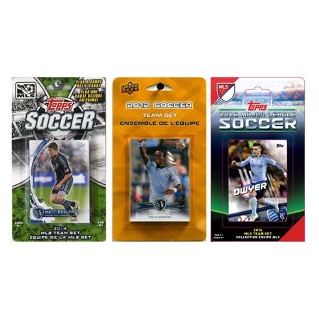 C Collectables Mls Sporting Kansas City 3 Different Licensed Trading Card Team Sets