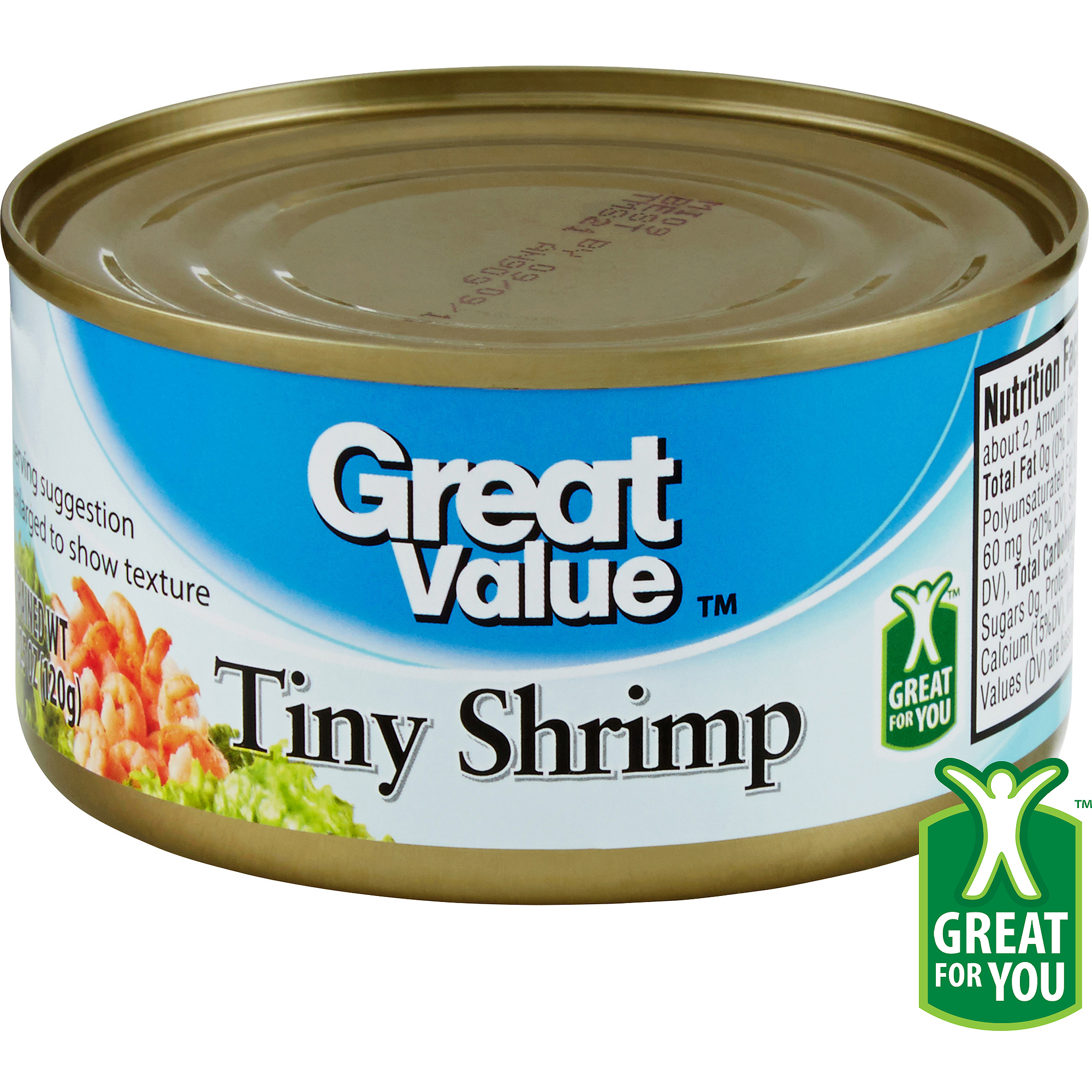 Great Value Tiny Shrimp, 4.25 oz