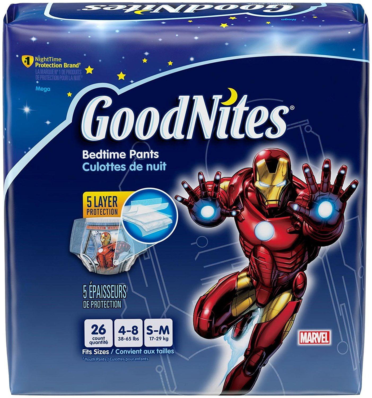 Underwear - Boy - Small/Medium - 26 ct, Goodnights Bedtim...