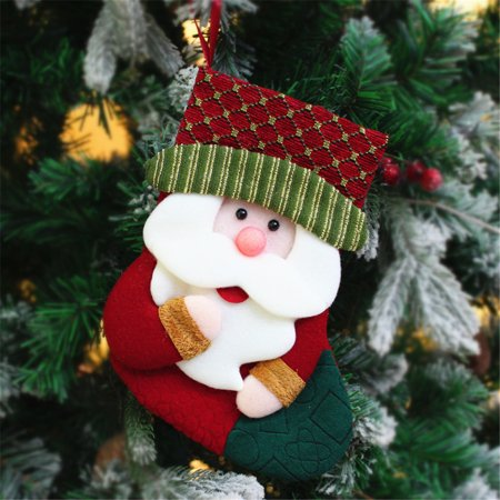Siaonvr Christmas Stockings Ornament Old Man Snowman Christmas Stockings Gift Bag ()