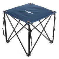 Lucky Bums Quick Camp Table with Carrying Bag, Blue