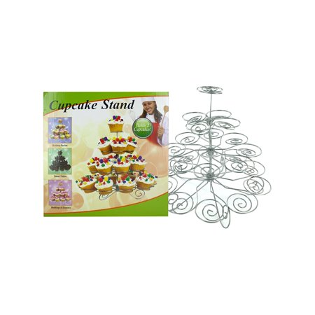 Metal Cupcake Stand, Ideal for buffet tables and displaying cupcakes at potlucks, this Decorative Metal Cupcake Stand holds 23 cupcakes with each positioned so the.., By Kole Imports Ship from US - Cake Table