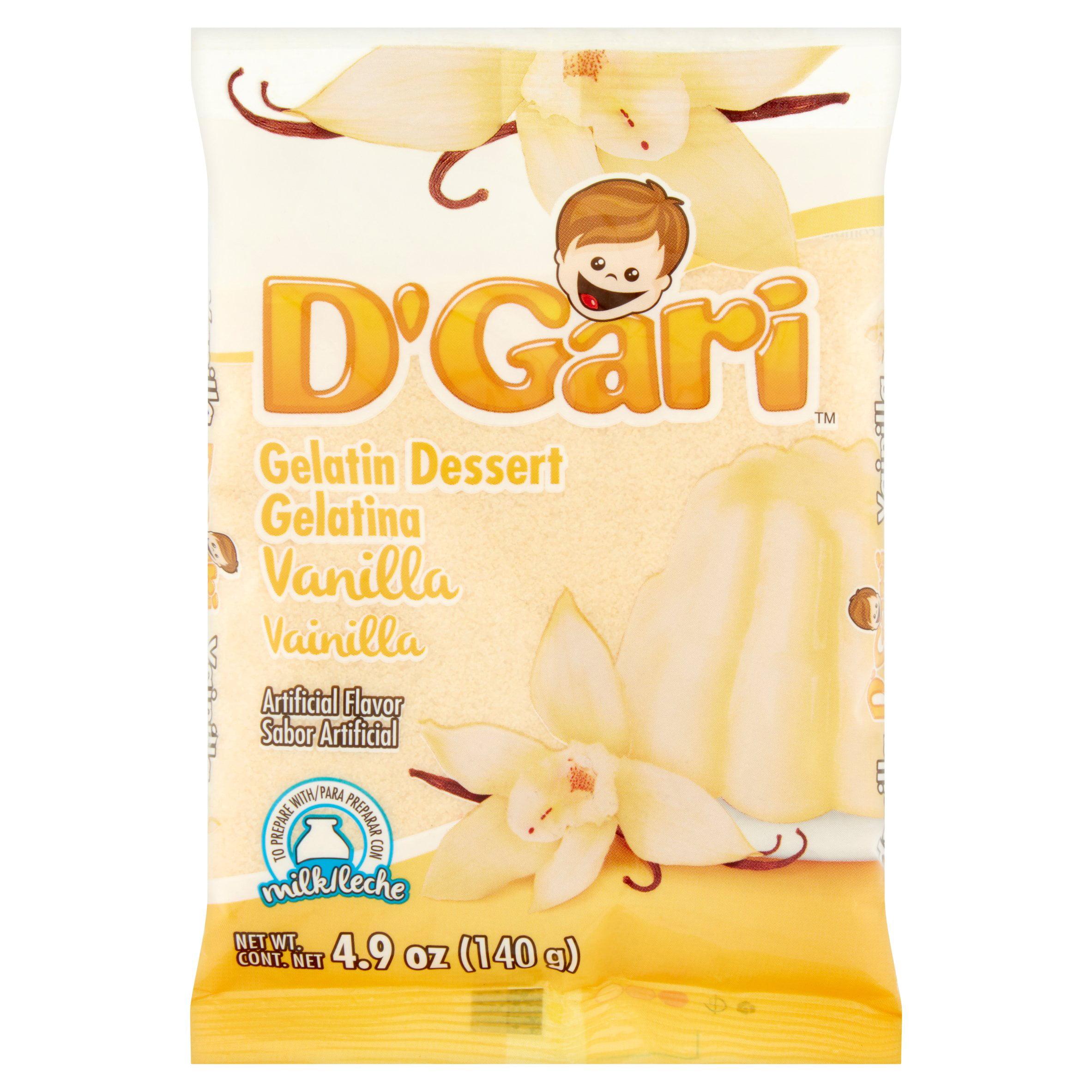 (3 Pack) D'Gari Vanilla Gelatin Dessert, 4.9 oz