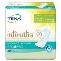 Tena Moderate Regular Incontinence Pad, 20 Ct