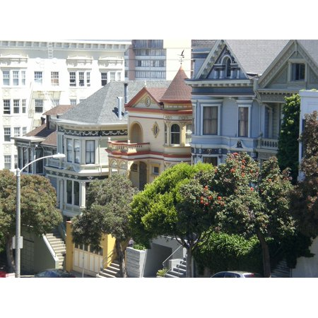Canvas Print Victorian House Painted Ladies San Francisco Stretched Canvas 10 x