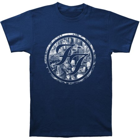 Foo Fighters Eagle (Foo Fighters Men's  City Circle Slim Fit T-shirt Navy)