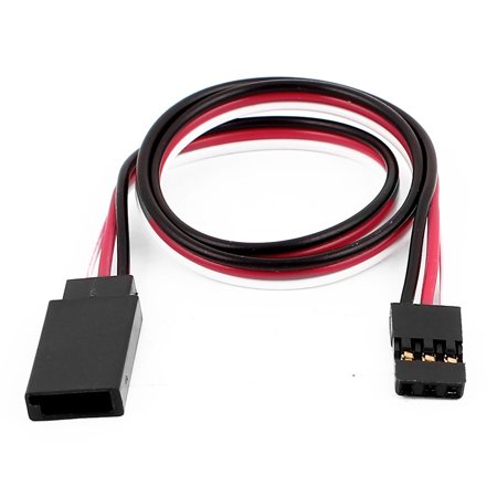 Unique Bargains 305Mm 3 Terminal Remote Control M F Rc Servo Extension Cable For Rc Airplane