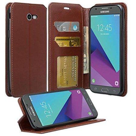 Huawei Ascend XT Case - Wydan Wallet Case Folio Flip Leather Kickstand Feature Credit Card Slot Style Cover Brown (Sim Card Slot Huawei Ascend P6)