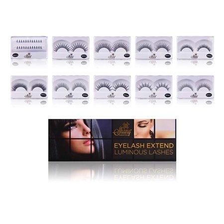 Shany Cosmetics Shany Eyelash Extend - Set of 10 Assorted Reusable Eyelashes - Thin