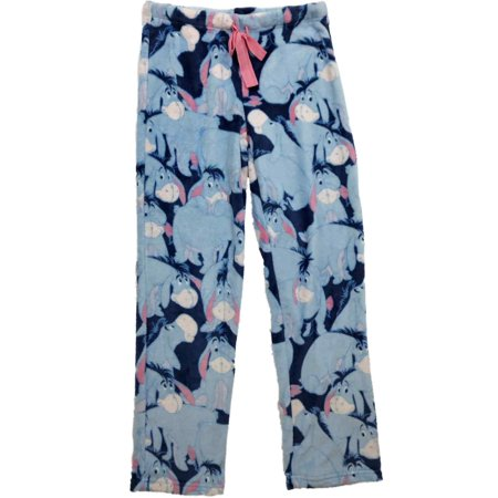 Womens Disney Eeyore Donkey Winnie The Pooh Fleece Sleep Pant Pajama Bottoms