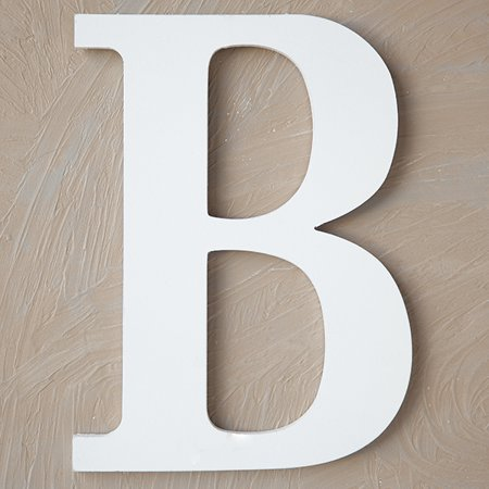 Wood Block Letter B Painted White 24in Walmart