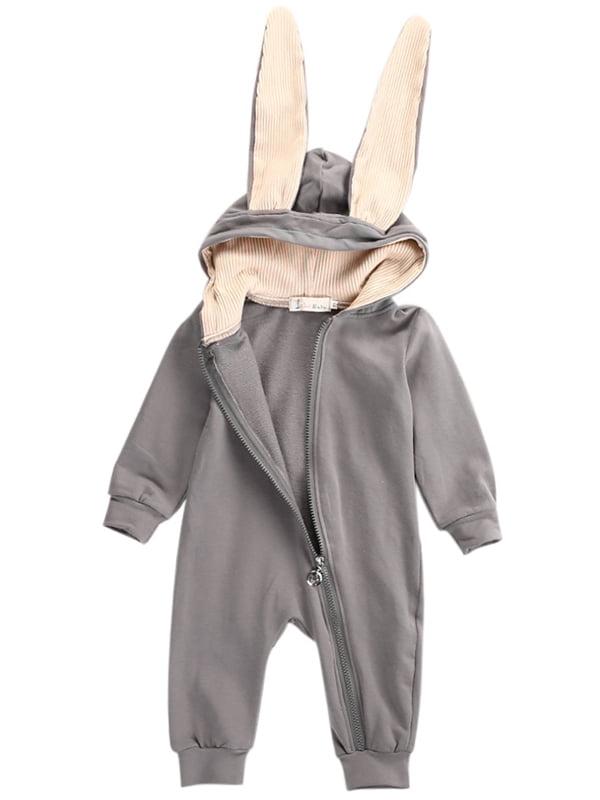 Babula Toddler Girl Boy Baby Bunny Ear Romper Jumpsuit 0-4Y