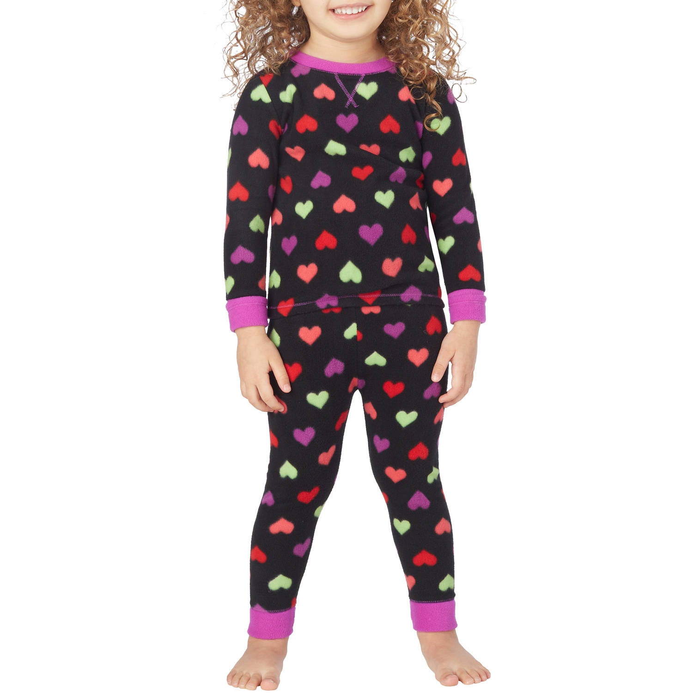 Climate Right By Cuddl Duds Toddler Girl Fleece Warm Underwear Set