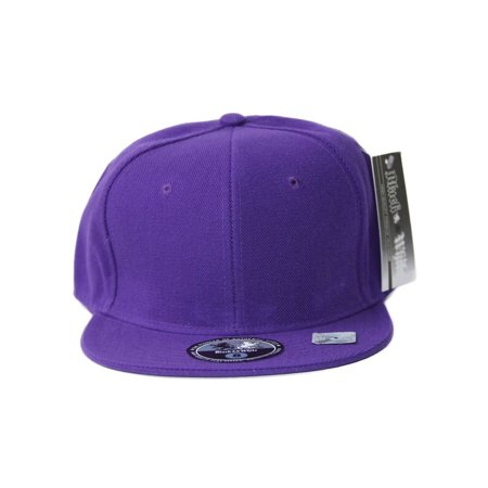 Fitted Acrylic Plain Style Purple Hat