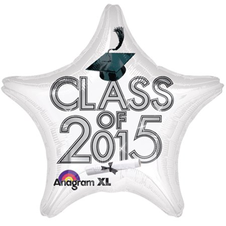 "Anagram Class of 2015 Graduation Star Jr Shape 19"" Foil Balloon"