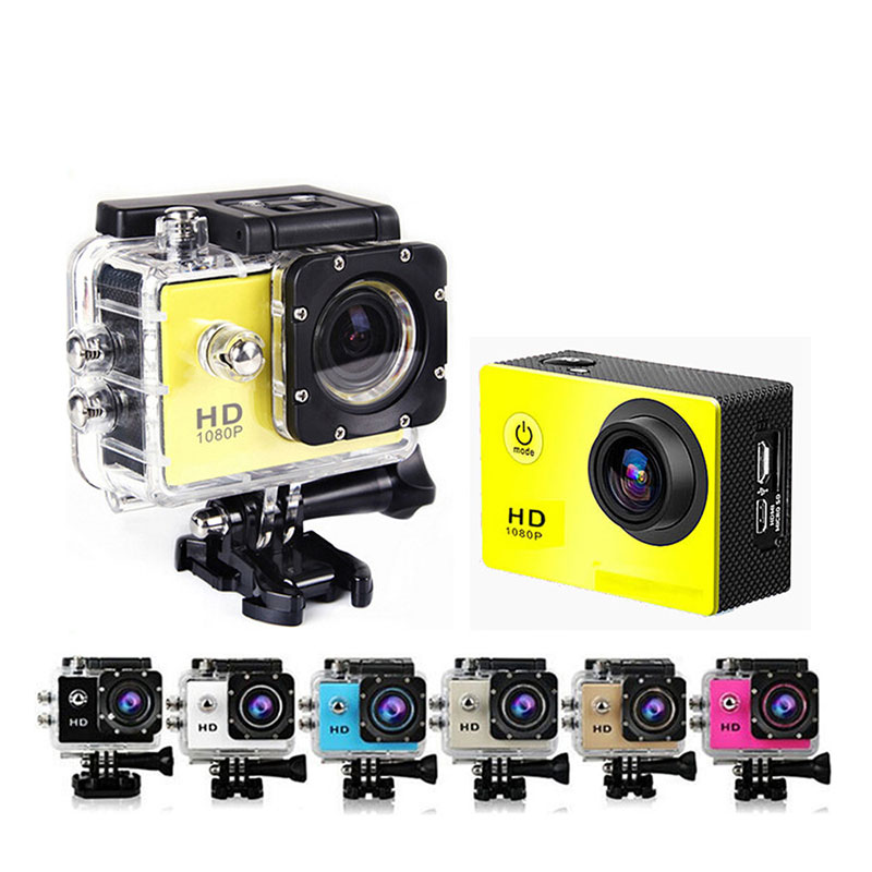 Mini Action Camera For Sports, Full HD 720P 30m Waterproof Sports DV Camcorder with 2 Inch LCD Screen for Extreme Outdoor Sports, Black
