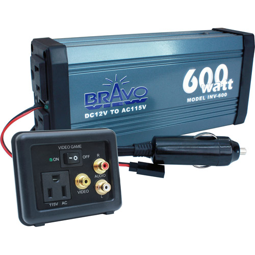 Bravo View INV-600 - 600-Watt Power Inverter with Audio/Video Gameplate
