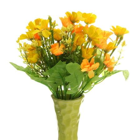 - Artificial Fake Silk Flowers Leaf Home Wedding Party Garden Decoration 28Heads Valentine's Day Decoration