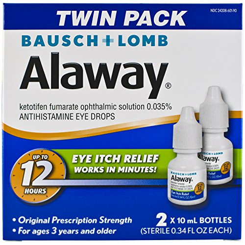 3 Pack - Bausch + Lomb Alaway Antihistamine Eye Drops [Twin Pack] 0.68 oz Each
