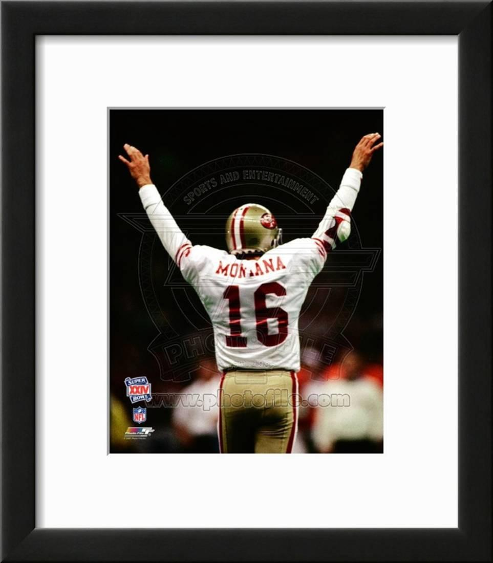 San francisco 49ers joe montana photo framed photographic print wall art 14x16