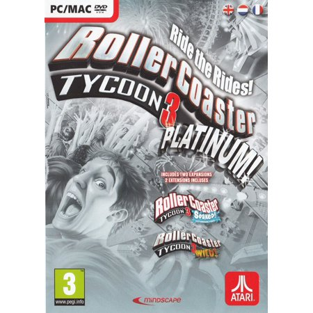 Rollercoaster Tycoon 3 Platinum (includes Soaked and Wild Expansion PC Games)
