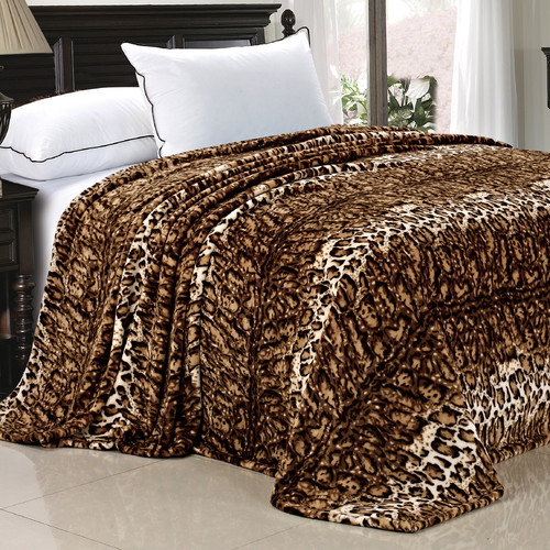 BOON Throw & Blanket Safari Flannel Fleece Blanket