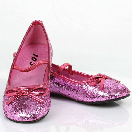 Sparkle Ballerina Pink Shoes Women's Adult Halloween Costume - Cheap Costume Shoes