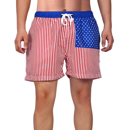 ed1afe7f2e HDE Mens Swim Trunk Shorts - Slim Fit Mesh Lining Pockets Quick Dry Board  Short ...