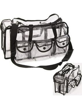 228ca473725140 Product Image Casemetic PC01BK Black Large Makeup Clear Bag - Pc01