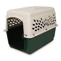 Ruffmaxx Plastic Dog Kennel, Tan/Green
