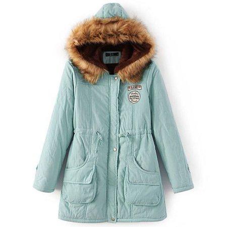 604d9471ab8 Vista - Women s Fashion Winter Hoodie Coat Long Sleeve Cotton Jackets Thick  Outwear Overcoat Plus Size Fur Warm Coat - Walmart.com