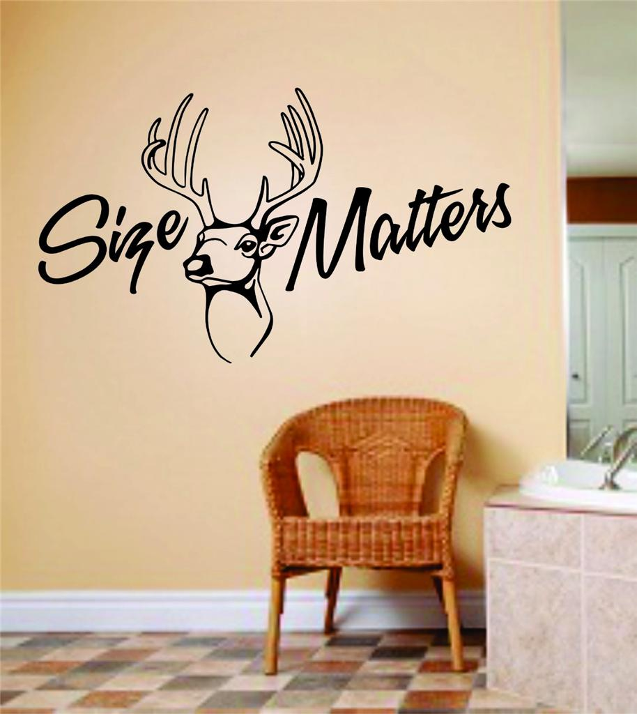 Size Matters Wall Letters Animal Picture Art Kids Room Bow Hunting Deer Moose Buck Hunter Wall Decal 8 X 16 Inches