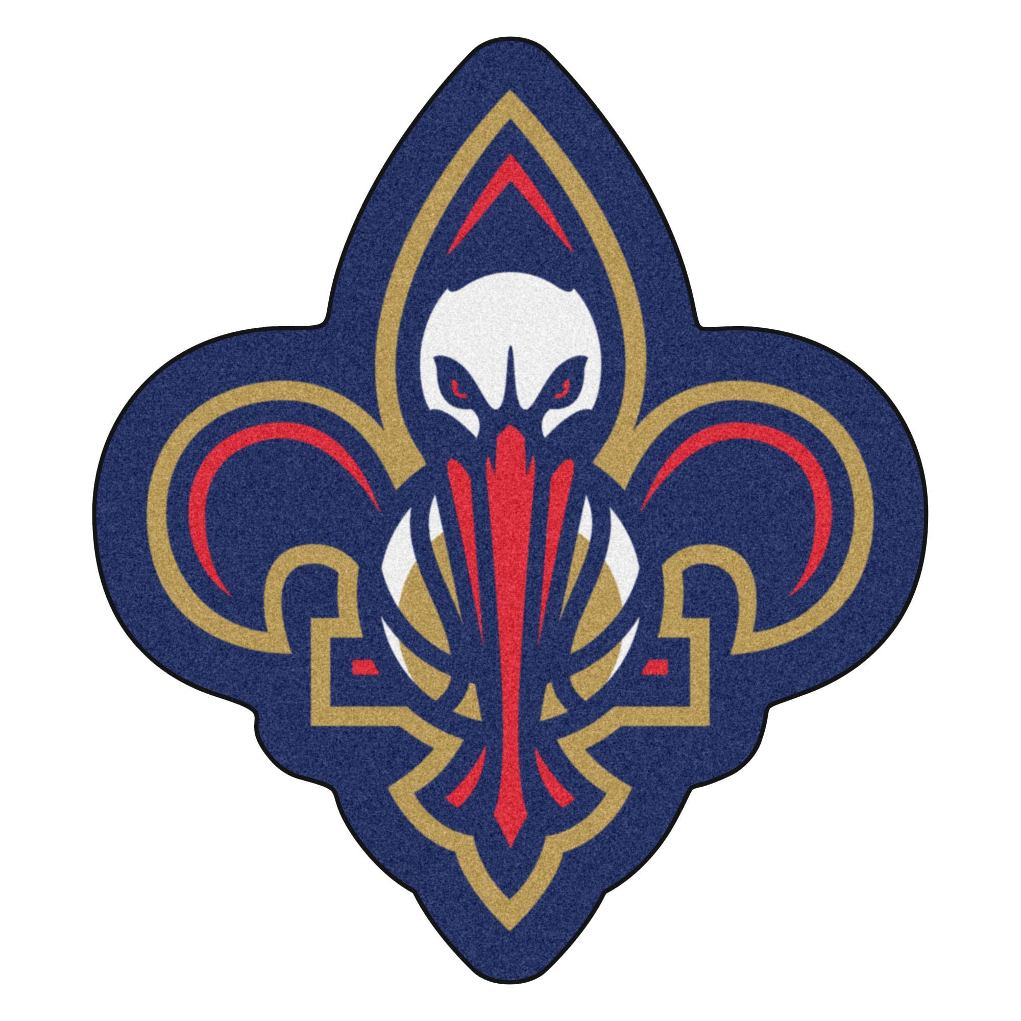NBA New Orleans Pelicans Mascot Novelty Logo Shaped Area Rug