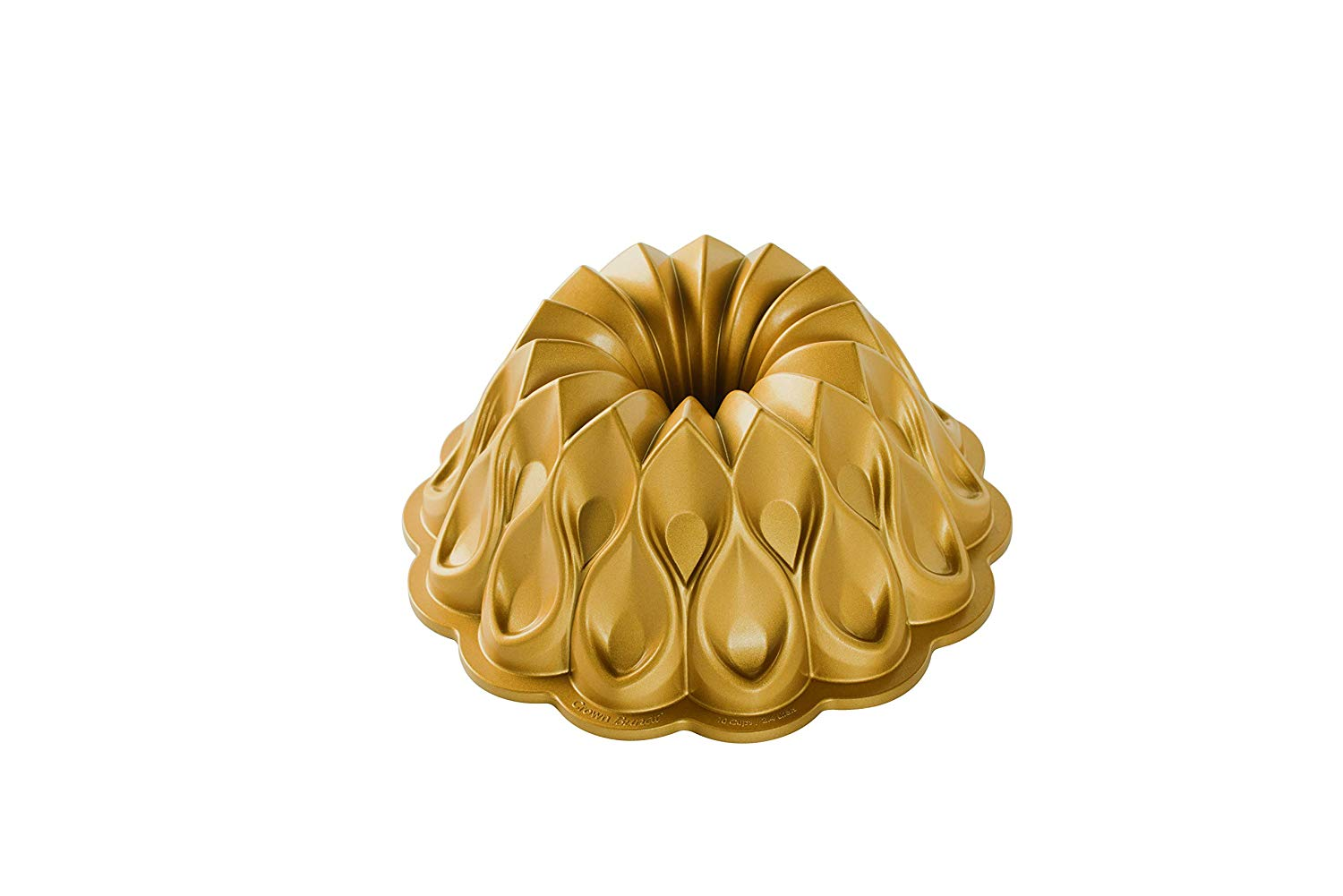 91777 Crown Bundt Pan, One Size, Gold, Our fantastic 70th anniversary pan! By Nordic Ware by