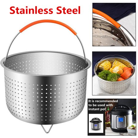 For Instant Pot /Rice Pressure Cooker Food Steam Steamer Basket w/Handle 304 Stainless Steel