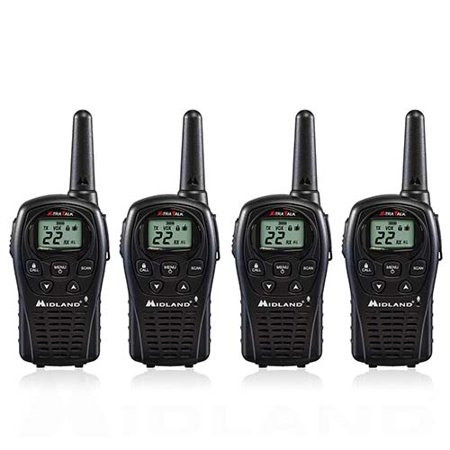 Midland LXT500VP3 Xtra Talk Two Way Radio 22 Channels 24 Mile Range Water Resistant (4 Pack) ()