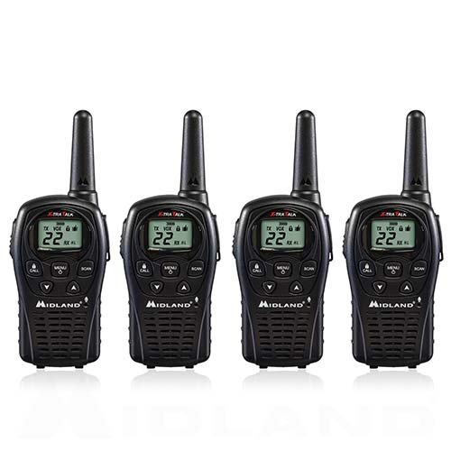 Midland LXT500VP3 Xtra Talk Two Way Radio 22 Channels 24 Mile Range Water Resistant (4 Pack)