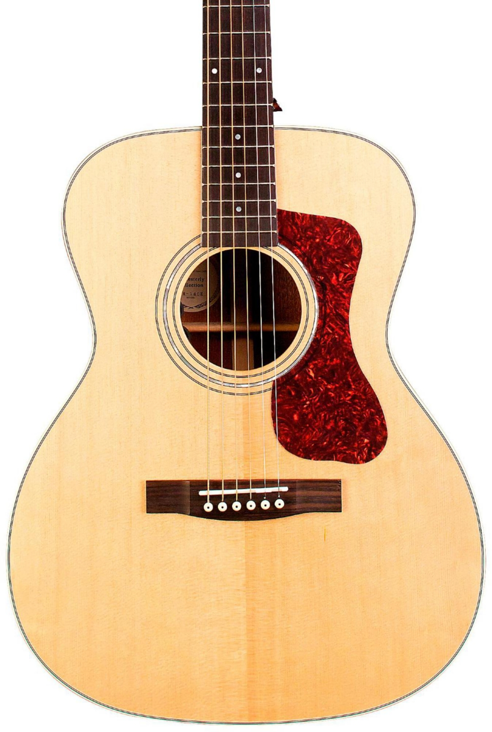 Guild OM-140E Orchestra Acoustic-Electric Guitar Natural by Guild
