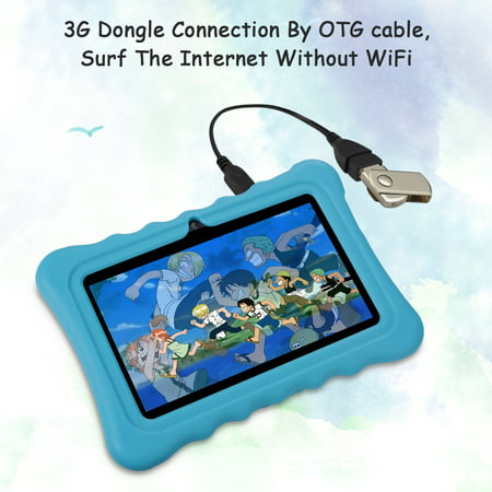 "Learning Tablets, 7"" Kids Tablet with WIFI Light Weight Portable Shock-Proof Silicone Case Kick stand Available For Kids - image 6 of 11"