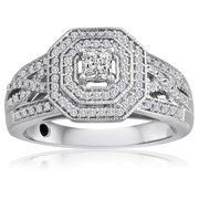 Allure Gems LLC Platinaire 1/2ct TDW Diamond Engagement Ring