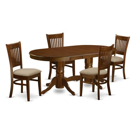 East West Furniture Vancouver 5 Piece Hepplewhite Modern Dining Table Set