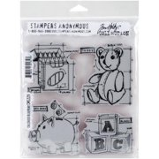 Stampers Anonymous Tim Holtz Cling Rubber Stamp Set 7inX8.5inChildhood Blueprint