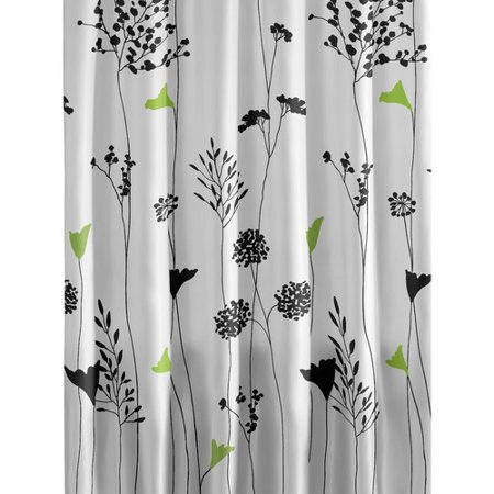 Shower Curtains cotton shower curtains : Perry Ellis Asian Lily Cotton Shower Curtain - Walmart.com
