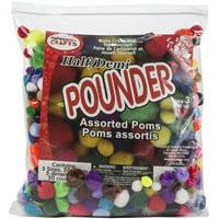 Pepperel Pom Poms Half Pounder Assorted Approximately 750/Pkg, Standard