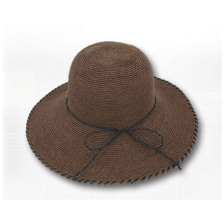 bed2d96c0c7d3 Sun Styles Foldable Crushable Coco Women s Organic Raffia Sun Hat - Brown -  image 1 ...