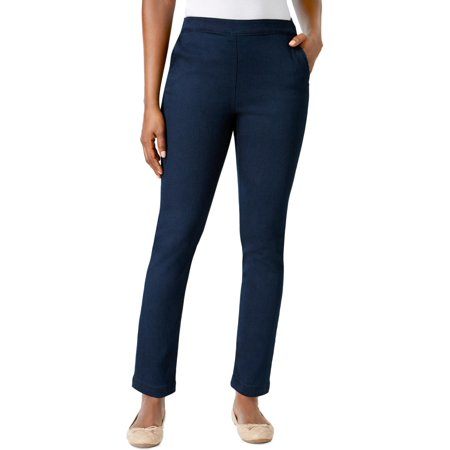 Karen Scott Womens Denim Comfort Waist Straight Leg Jeans